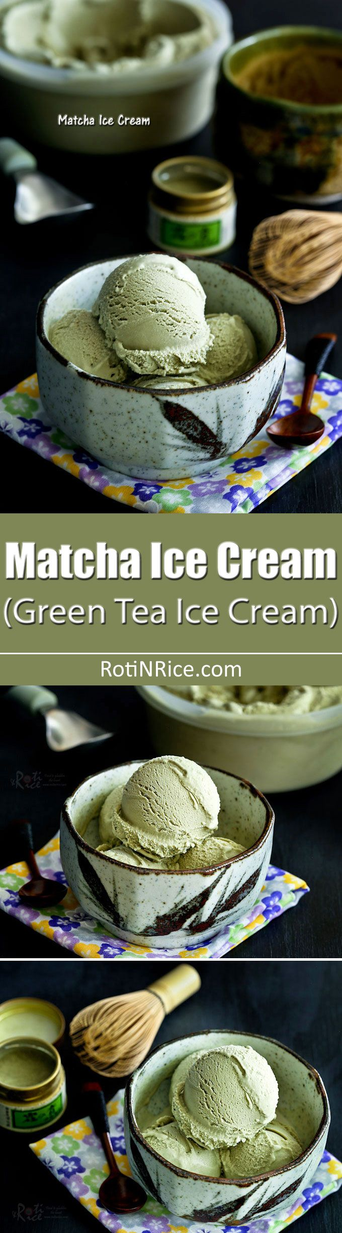 Treat family and friends to some delicious homemade Matcha Ice Cream. This simple eggless recipe is full of green tea flavor.