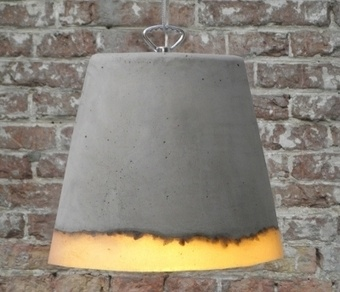 Concrete Lamp by Renate Vos