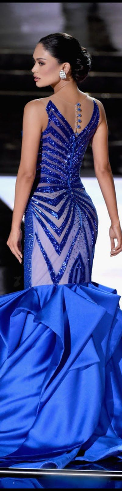 Pia - Miss Philippines in Blue