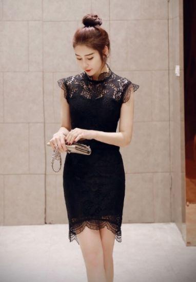 76b9cce9fa519 黒レースのノースリーブタイトミニドレスワンピース - 韓国プチプラパーティードレス通販『TENDERLY DRESS