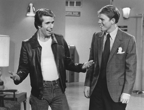 Henry Winkler and Ron Howard :)