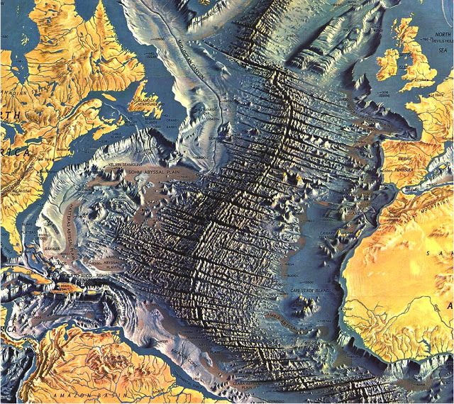 Atlantic Ocean Floor Map | Geology IN