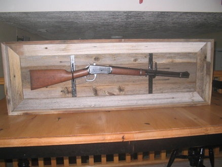 shadow box for Winchester rifle
