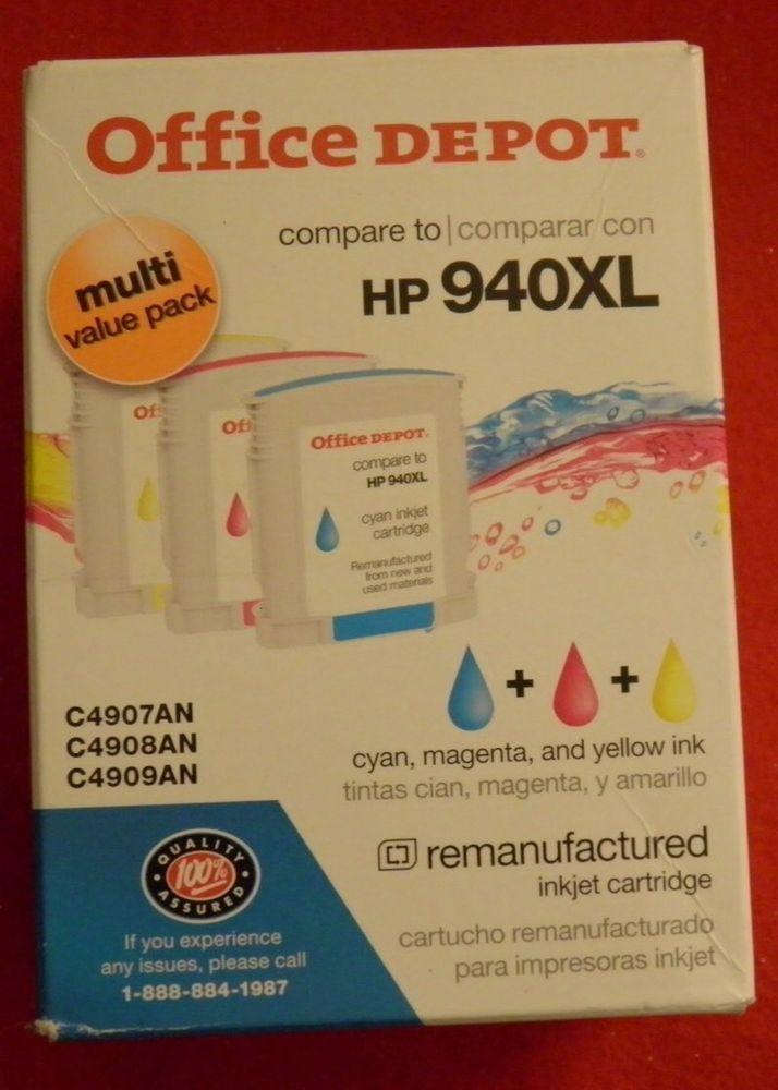 Office Depot HP 940XL Ink Cartridges Magenta Cyan