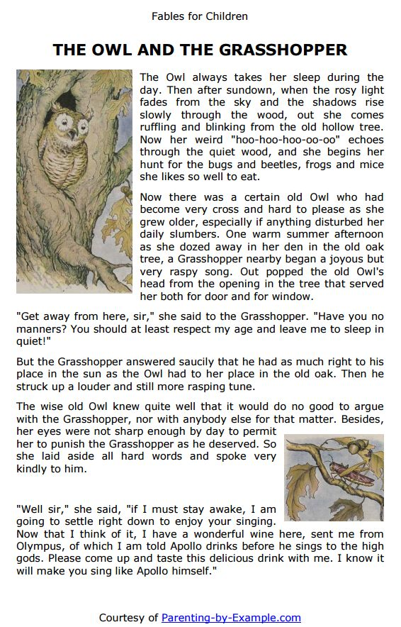 aesops fables for children are a great bedtime story that help teach a life lesson free printable fables in pdf format