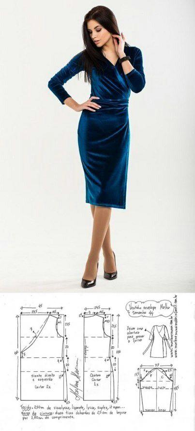 Los patrones del vestido con el olor / los patrones Simples / la SEGUNDA CALLE