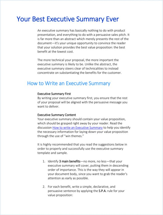 Best 25+ Executive summary example ideas on Pinterest Executive - free business proposal template word