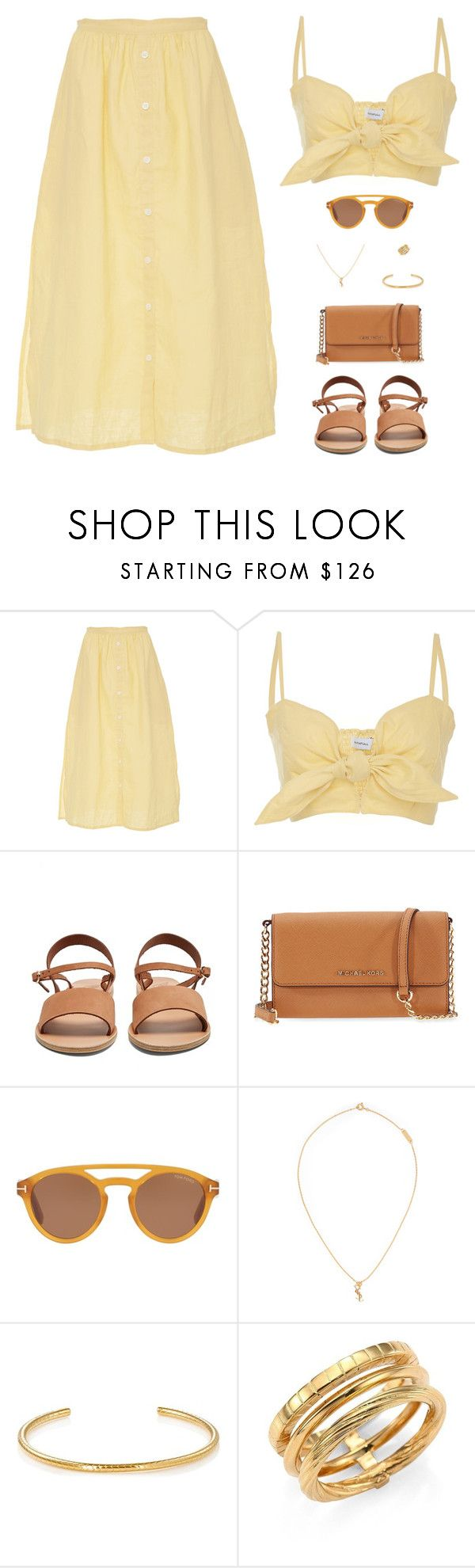"""""""Sin título #4981"""" by mdmsb on Polyvore featuring moda, Faithfull, Ancient Greek Sandals, Michael Kors, Tom Ford y Yves Saint Laurent"""