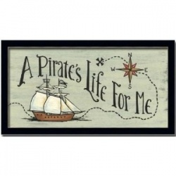 A Pirate's Life For Me Boy Room Art Print Sign Framed