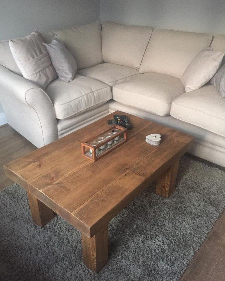 Our 3 Inch Top 4 Leg Coffee Table Handmade Right Here In The Uk Crafted From Some Very Chunky Solid Wood Including A Thick Rustic