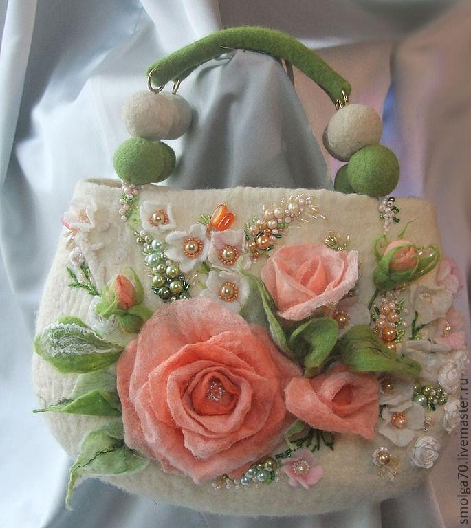 "*FELT ART ~ Handbags handmade.  Fair Masters - handmade.  Buy Bag ""Pink dreams"".  Handmade.  Lady's bag"