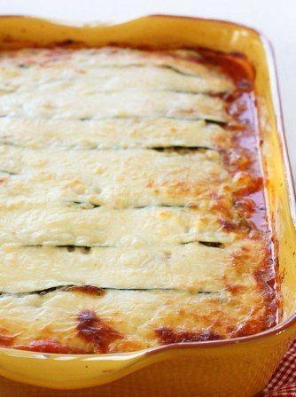Zucchini Lasagna ~ Healthy, low carb zucchini lasagna recipe! Yummy! #lowcarb #healthyeating