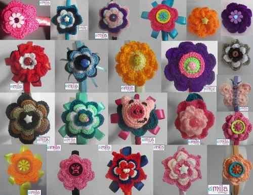 Accesorios Para Niñas En Crochet, Diademas, Prensas , ¢ 2,500.00