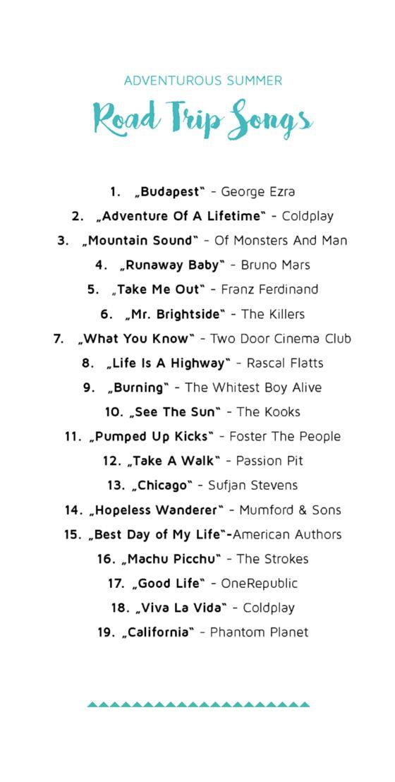 Die Playlist für deinen nächsten Road Trip (some of these are actually OK, repinning just because ;) )