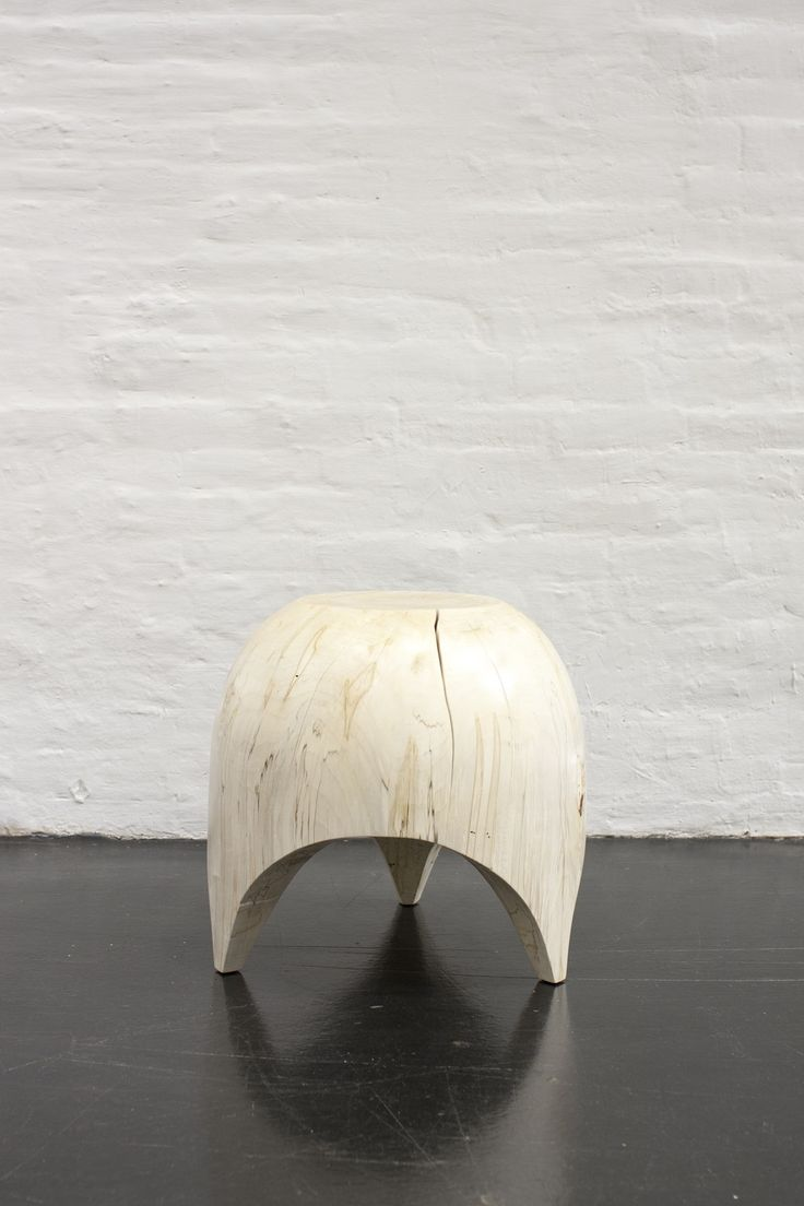 Kieran Kinsella Bleached Maple Dome Stool Object