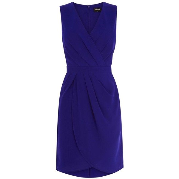 Oasis Caitlin Drape Crepe Dress (57 CAD) ❤ liked on Polyvore featuring dresses, clearance, purple, night out dresses, crepe shift dress, draped dress, party dresses y crepe dress