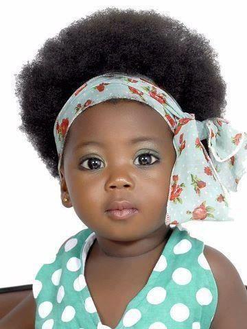 Afro hair, polka dots & scarf