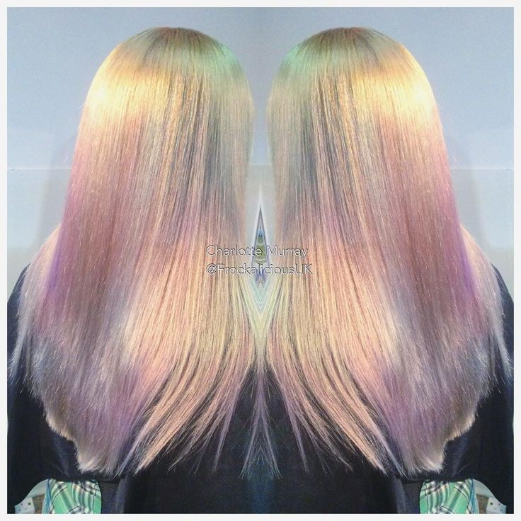 Outstanding,  Iridiscent, Pearlescent, Opal hair color, Gorgeous!