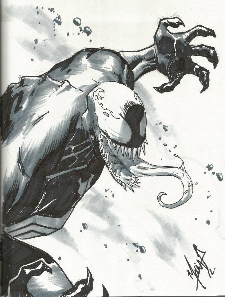 Venom by Jorge Molina Comic Art
