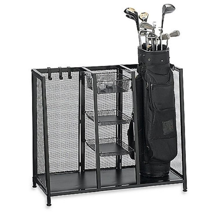 Made From Corrosion Resistant Metal These Two Bag Golf Organizers By Pro  Golf Racks Feature Roomy