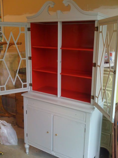 Painted Hutch I Dont If Im Daring Enough To Paint The Inside