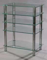 """MD 108-5 хром/прозрачное стекло  — 9200 руб. —  Стойка под телевизор, Hi-Fi аппаратуру и AV технику Безопасная, полированная кромка стекла Стеклянные полки со скругленными углами Стальные трубы 50х50 мм. Нержавеющая сталь. Полированное стекло высшего качества, изготавливаемое по технологии """"float"""" ( поверхности стекла идеально ровные и параллельны друг другу ) производства двух ведущих мировых концернов «Glaverbel» и «Pilkington».  В продукции используется полированное стекло высшего…"""