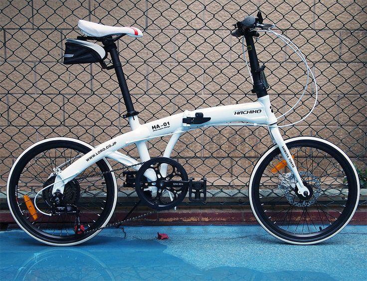 Hachiko 20 '' bici plegable, 7 velocidad de calidad superior desviador, aleación de aluminio marco de fotos, delantero y trasero disco frenos. 3 colores en Bicicletas de Deportes y Tiempo Libre en AliExpress.com | Alibaba Group