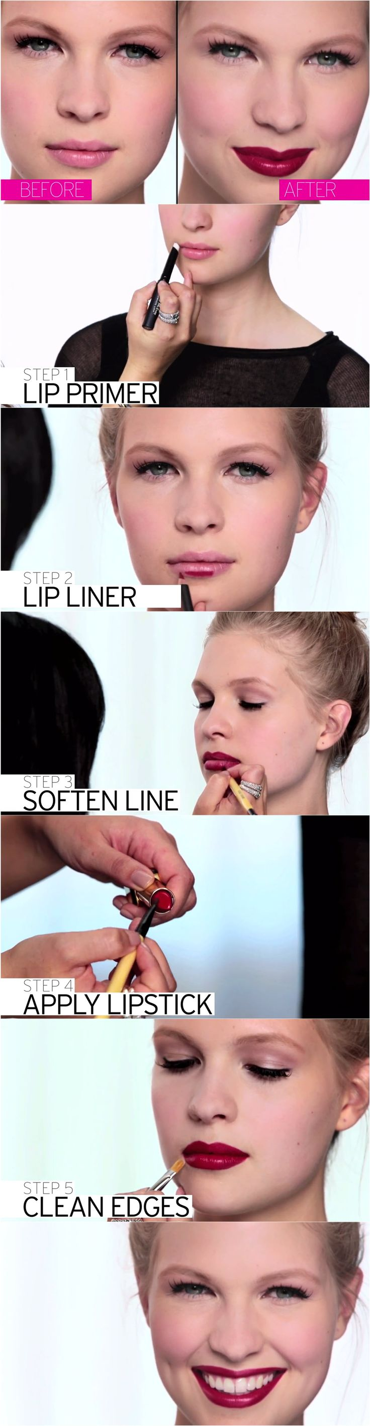 How to prep, line and complete the perfect pout