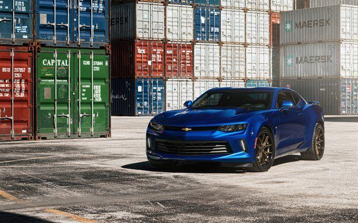 Indir duvar kağıdı Chevrolet Camaro, Tuning, mavi Camaro, spor arabalar, Amerikan arabaları, Ferrada jantlar, Chevrolet