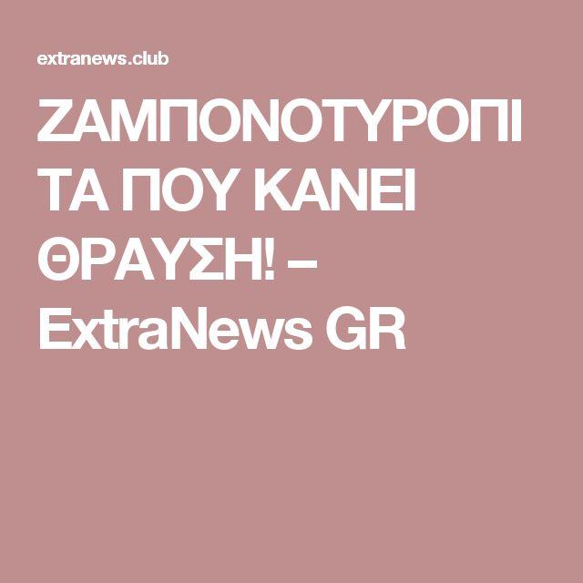 ΖΑΜΠΟΝΟΤΥΡΟΠΙΤΑ ΠΟΥ ΚΑΝΕΙ ΘΡΑΥΣΗ! – ExtraNews GR