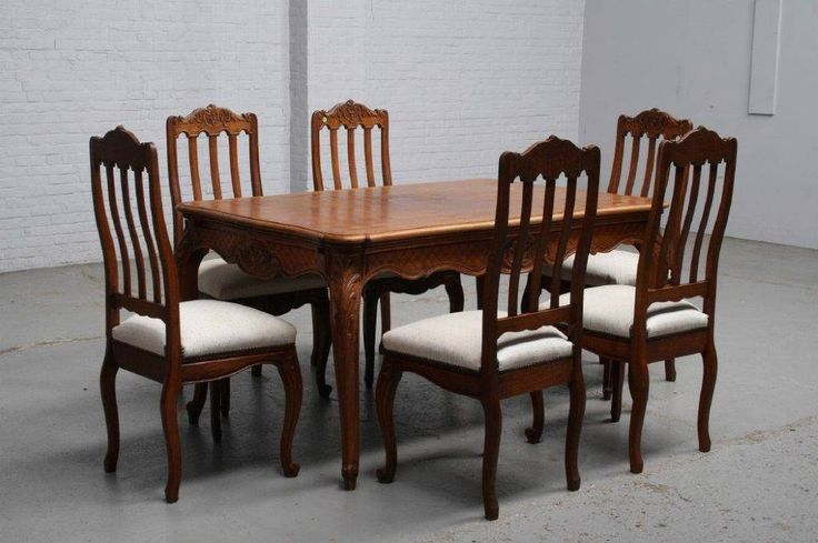 LIEGE OAK DINING ROOM SET - DINING ROOM FURNITURE - DINING TABLE AND CHAIRS
