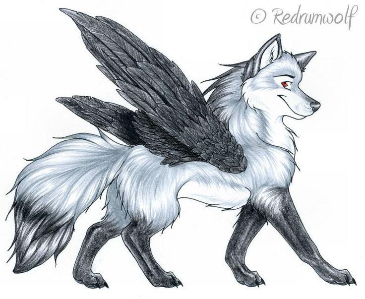 Black Wolf with Red Eyes Demon | OceanEyesII Leader of SUN ...