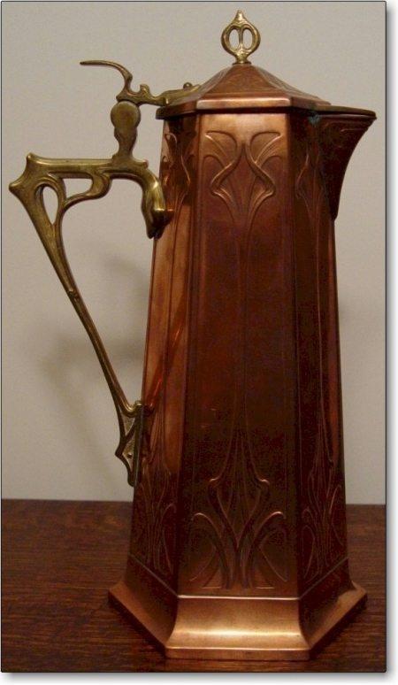 WMF German Copper Antique Tankar - Arts & Crafts, Jugendstil, Art Nouveau