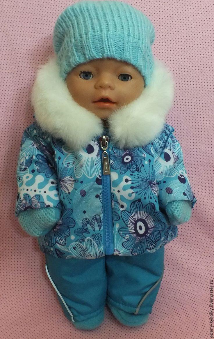 Купить или заказать Костюм для куклы Baby Born в интернет-магазине на Ярмарке Мастеров. Зимний костюм для куклы Baby Born и похожих по размеру кукол. Комплект выполнен в виде куртки и полукомбинезона из плащёвой ткани + подкладка с утеплителем.