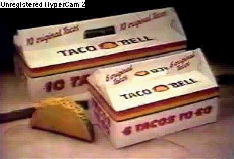 Taco Bell Taco box