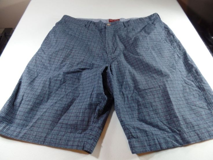 Merona Tailored Fit Mens Plaid Shorts 34 Beach Casual Multi Color #Merona #CasualShorts