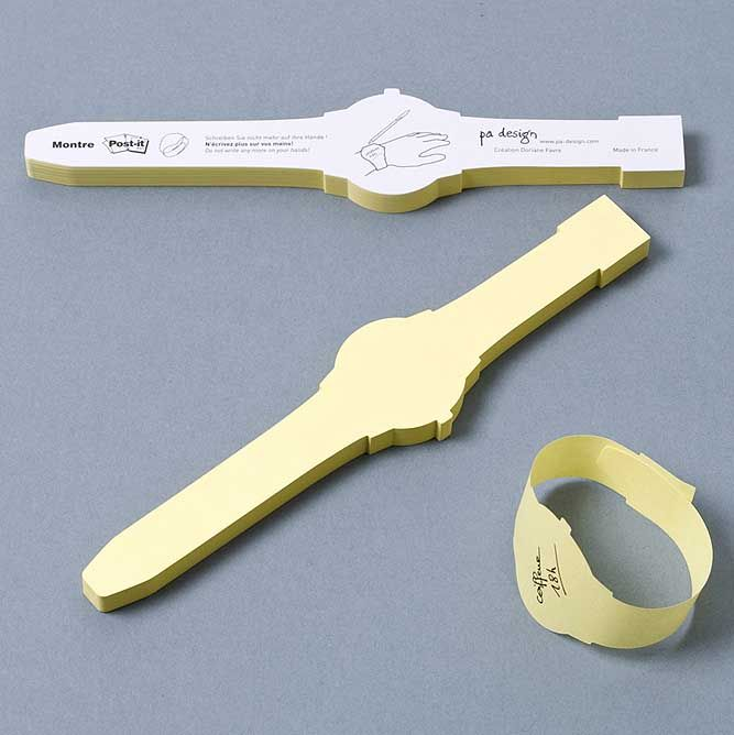 The modern equivalent of tying a string around your finger? - post-it-notes invention watch