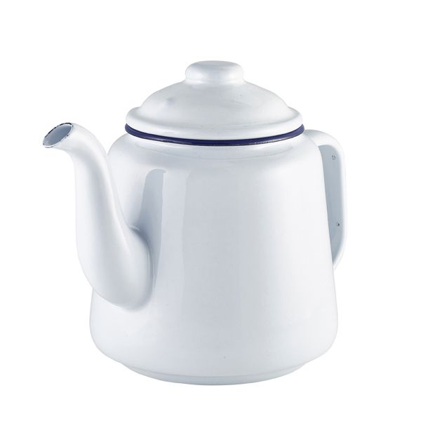 <strong>Falcon Enamel Tea Pot White 1.5ltr - </strong>Sturdy enamel tableware range, for all occasions. Vitreous double coated enamel. Free Delivery on orders over £50.00.