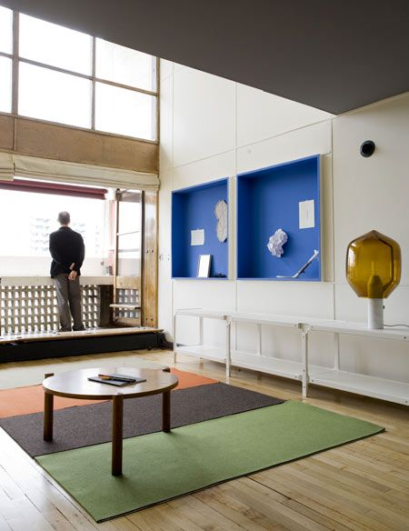 Corbusier's Unite d'habitation - hallways on every other floor, duplex apartments, sun, space, & trees, modular man, social experiment