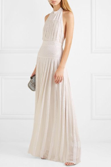 df4bc654086 Temperley London - Pleated sequined chiffon gown in 2019