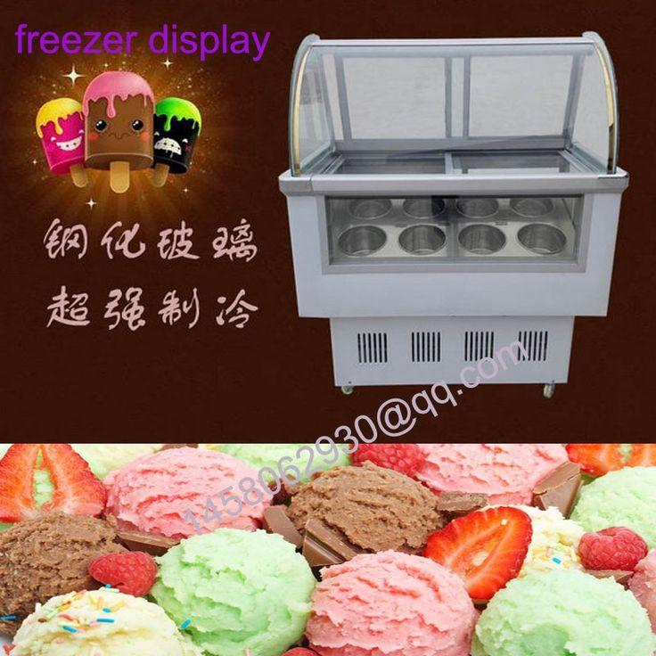 770.00$  Watch here - http://alixgr.worldwells.pw/go.php?t=32613351285 - hard ice cream display porridge display cabinet supermarket fresh food freezer display refrigerator with 8 taste  770.00$