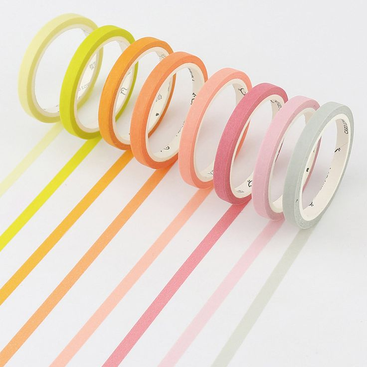 DIY Cute Kawaii Solid Color Masking Washi Tape Lovely Decorative Tape For Photo Album Diary Free Shipping 3012