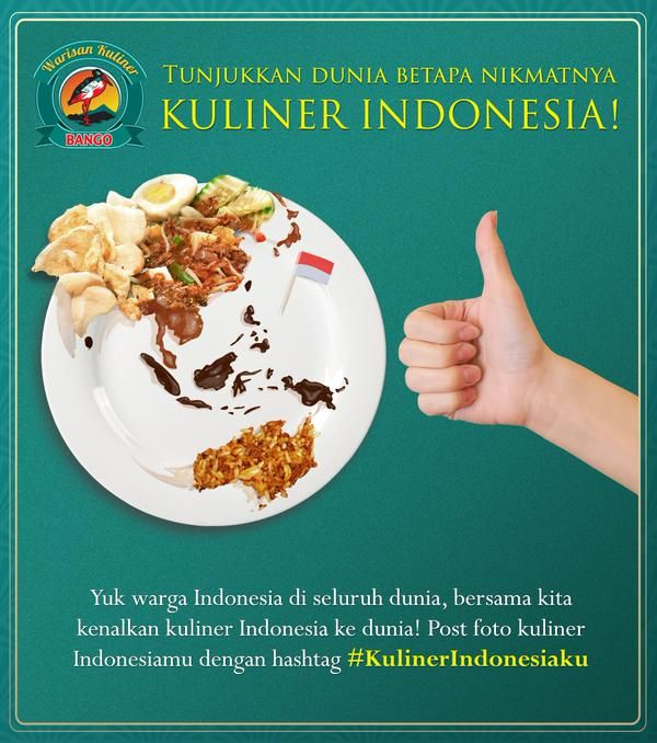 show the world that Indonesia food is delicious , nutritious #KulinerIndonesiaku