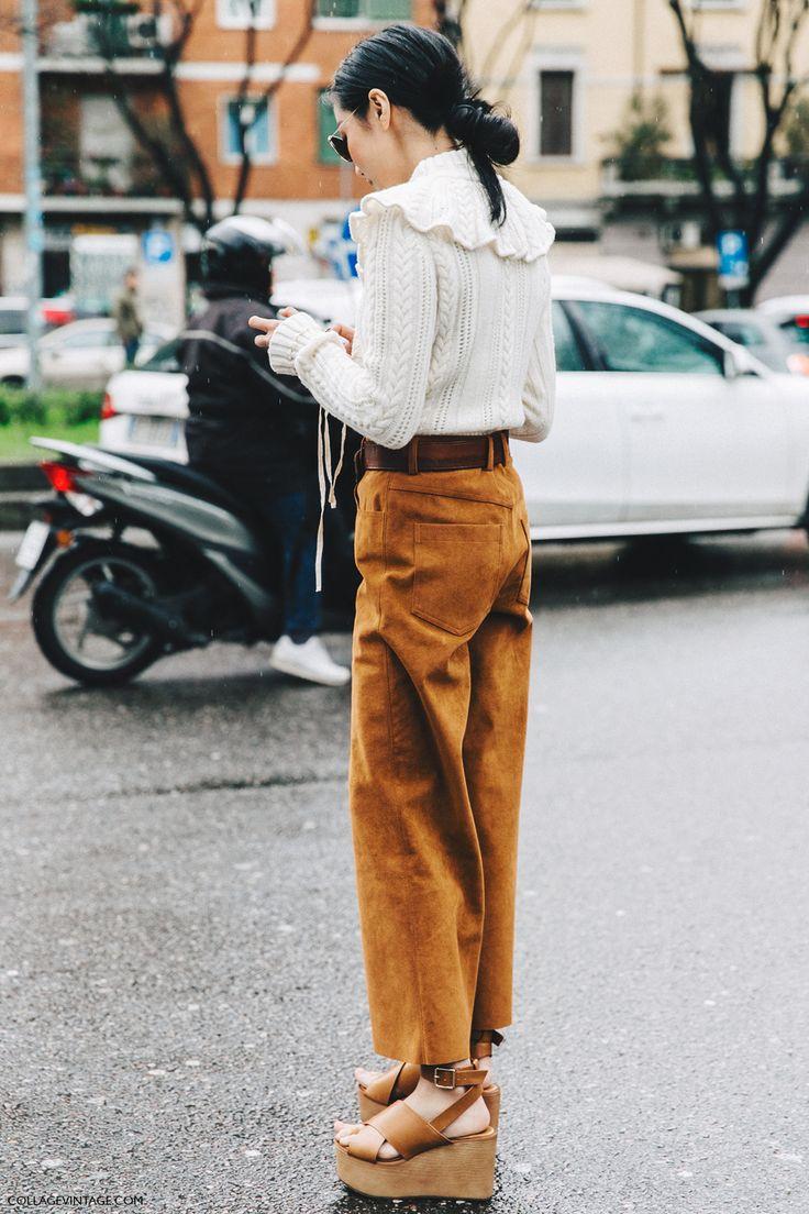 Milan_Fashion_Week_Fall_16-MFW-Street_Style-Collage_Vintage-Yoyo_Cao-Camel_Trousers-Sandals-2 #ElegantLivingForWomen #WomenInNoirfilms http://www.quaintrellism.net