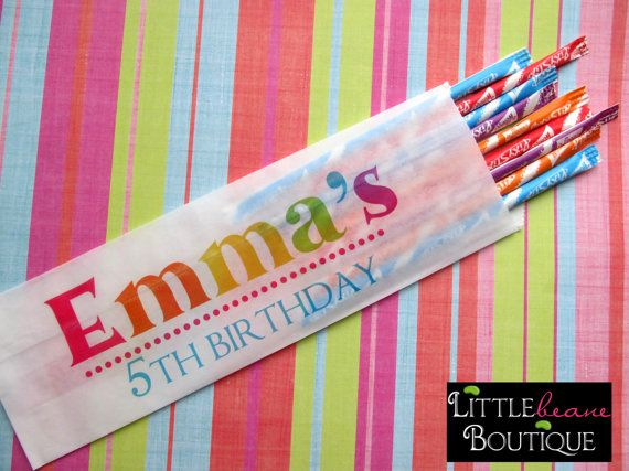 Personalized Candy Bags Birthday Name Hot by LittlebeaneBoutique, $18.00