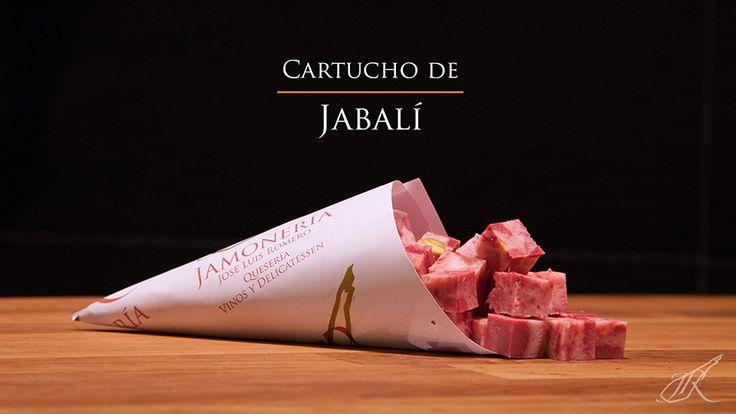 Wild Boar Cubes Gourmet Cone. Jamonería José Luis Romero. Seville, Spain. // Cartucho de Dados de Jabalí. Sevilla, España.