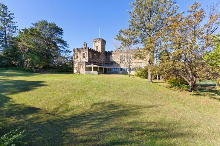 'Innisfallen Castle' Castle Cove Sydney. 1903 Gothic sandstone castle.  Also known as Willis's castle. After the very long term owners. The land that was surrounding the property has be sold over time, sadly.