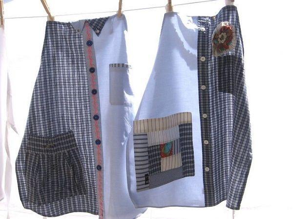 Transformez votre vieille chemise en un tablier fantaisiste pour bricoler en toute sécurité ! Pour réaliser le tablier chemise, vous aurez simplement besoin de l'avant de la chemise. À vous d'accessoiriser votre tablier avec une poche ou un peu de biais pour le rendre parfait. Ce tablier est un excellent cadeau autant pour une femme que pour un homme. Imaginez votre conjoint devant le barbecue dans son nouveau tablier ! …