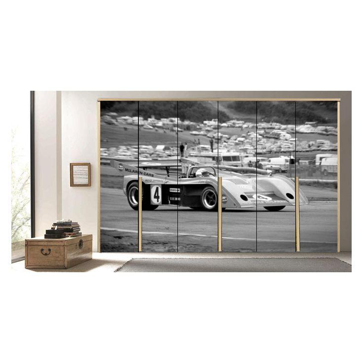 αυτοκόλλητη ταπετσαρία ντουλάπας με αυτοκίνητο