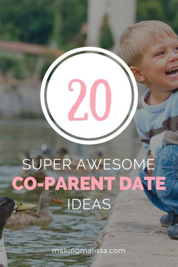 20 Super Awesome Co-Parent Date Ideas: Coparenting with your ex can be hard. Maybe if you cab get on good terms you can actually go on family outings together. Pin now for when you're ready.